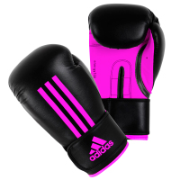 Adidas Energy 100 Gants De (Kick)Boxe Noir/Rose 8 Oz