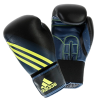 Adidas Speed 100 Gants de Boxe Noir/Jaune 12oz