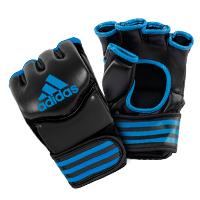 Adidas Gants de Grappling Traditionnelles Noir/Bleu Large