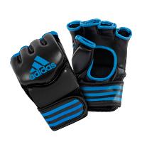 Adidas Gants de Grappling Traditionnelles Noir/Bleu Medium