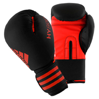 Adidas Hybrid 50 Gants de Boxe Noir/Rouge 12oz