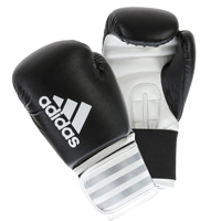 Adidas Hybrid 50 Gants de Boxe Noir/Blanc 8oz