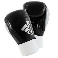 Adidas Hybrid 75 Gants de Boxe Noir/Blanc/Argent 14oz