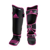Adidas Scheen- En Wreefbeschermers Economy Zwart/Roze S/M