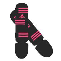 Adidas Scheenbeschermers Good Zwart/Roze Large