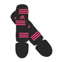 Adidas Scheenbeschermers Good Zwart/Roze Medium