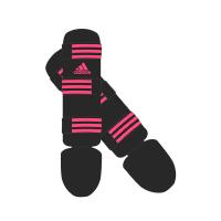 Adidas Scheenbeschermers Good Zwart/Roze Extra Small