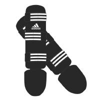Adidas Scheenbeschermers Good Zwart/Wit Large