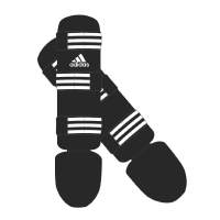 Adidas Scheenbeschermers Good Zwart/Wit Medium