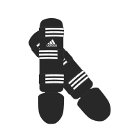 Adidas Scheenbeschermers Good Zwart/Wit Extra Small