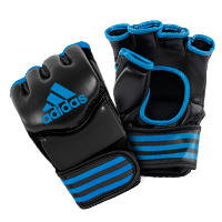Adidas Gants de Grappling Traditionnelles Noir/Bleu Large