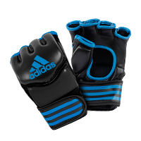Adidas Gants de Grappling Traditionnelles Noir/Bleu Medium