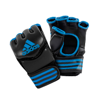 Adidas Gants de Grappling Traditionnelles Noir/Bleu Small