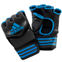 Adidas Gants de Grappling Traditionnelles Noir/Bleu Extra Large