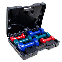 Kroon Vinyl Dumbbell set 12kg