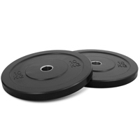 Newton Fitness Black Rubber Bumper Plates 10kg Set