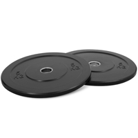 Newton Fitness Black Rubber Bumper Plates 5kg Set