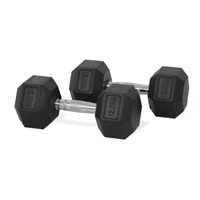 Newton Fitness Haltères Hexagone 12.5 kg Set