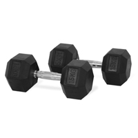 Newton Fitness Haltères Hexagone 15 kg Set