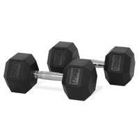 Newton Fitness Haltères Hexagone 17.5 kg Set