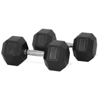 Newton Fitness Haltères Hexagone 20 kg Set