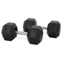 Newton Fitness Haltères Hexagone 25 kg Set