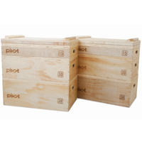 Pivot Fitness PM250 Jerk Block Set En Madera