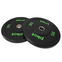 Pivot Fitness Pro Training Bumper Plates 10kg Set