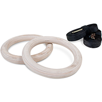 PowerMark Wooden Gym Ringe