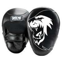 Super Pro Combat Gear Leder Curved Punch Mitts