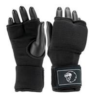 Super Pro Inner Gloves with Hand Wrap Black/White L