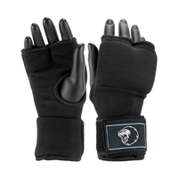 Super Pro Inner Gloves with Hand Wrap Black/White S