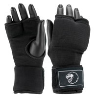 Super Pro Inner Gloves with Hand Wrap Black/White XL