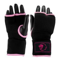 Super Pro Inner Gloves with Hand Wrap Black/Pink L