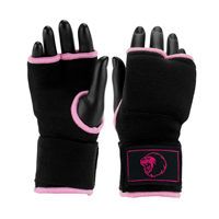 Super Pro Inner Gloves with Hand Wrap Black/Pink S