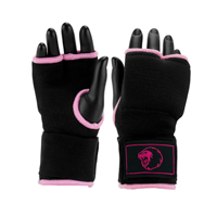 Super Pro Inner Gloves with Hand Wrap Black/Pink XS