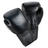 Super Pro Muay Thai Guanti Da Boxe Legend Nero 16 oz