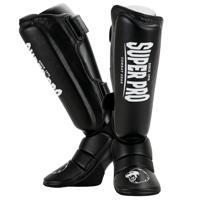 Super Pro Schienbeinschoner Protector Schwarz/Weiß XL