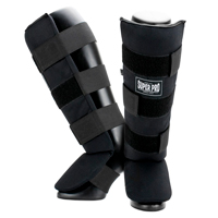 Super Pro Shin Guards Savior Black/White L