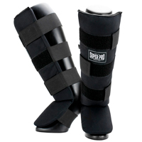 Super Pro Shin Guards Savior Black/White XL