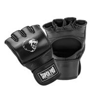 Super Pro Combat Gear Slugger MMA Gants Cuir Noir/Blanc