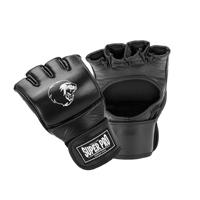 Super Pro Combat Gear Slugger MMA Handschoenen Leder Zwart/Wit Small