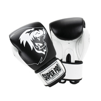 Super Pro Undisputed Leather Bag Gloves Black/White S