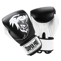 Super Pro Undisputed Leather Bag Gloves Black/White XL