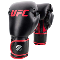 UFC Contender Muay Thai Kickboxing Gloves Black/Red 12oz