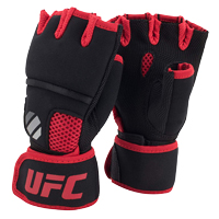 UFC Contender Quick Wrap Inner Gloves Black/Red S/M