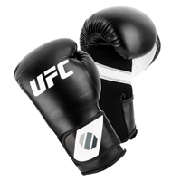 UFC Training Guanti Da (Kick)Boxe Nero/Bianco 14oz