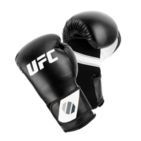 UFC Training Guanti Da (Kick)Boxe Nero/Bianco 6oz