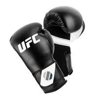 UFC Training Guanti Da (Kick)Boxe Nero/Bianco 8oz